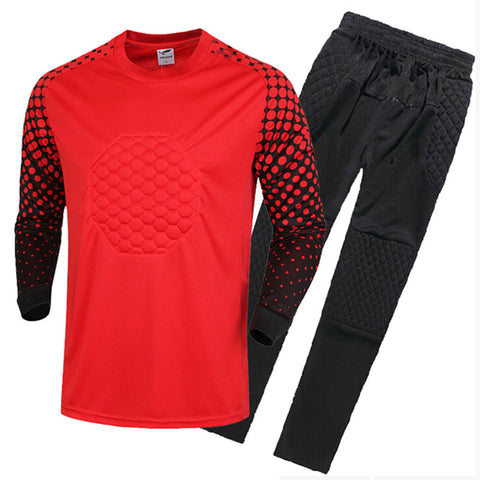 Adult Child Long Sleeve Goalkeeper Clothes   red   S - Mega Save Wholesale & Retail - 1