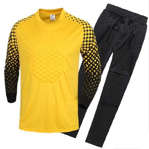 Adult Child Long Sleeve Goalkeeper Clothes   yellow   S - Mega Save Wholesale & Retail - 1