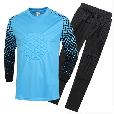 Adult Child Long Sleeve Goalkeeper Clothes   blue   S - Mega Save Wholesale & Retail - 1