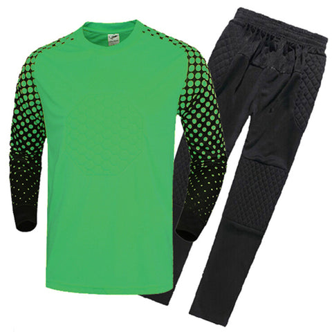 Adult Child Long Sleeve Goalkeeper Clothes   green   S - Mega Save Wholesale & Retail - 1