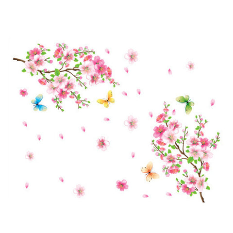 Peach Flower Wallpaper Wall Sticker Removeable - Mega Save Wholesale & Retail - 1