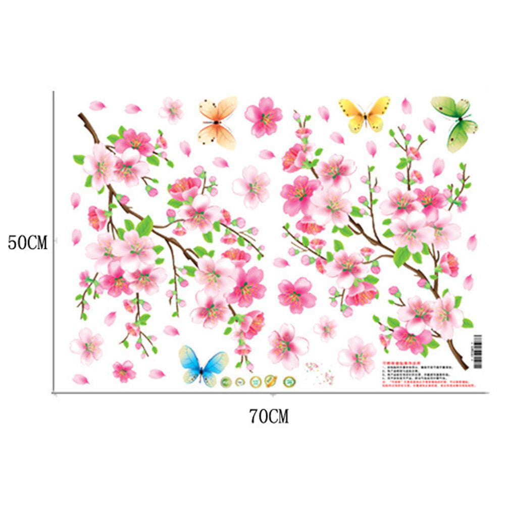 Peach Flower Wallpaper Wall Sticker Removeable - Mega Save Wholesale & Retail - 2