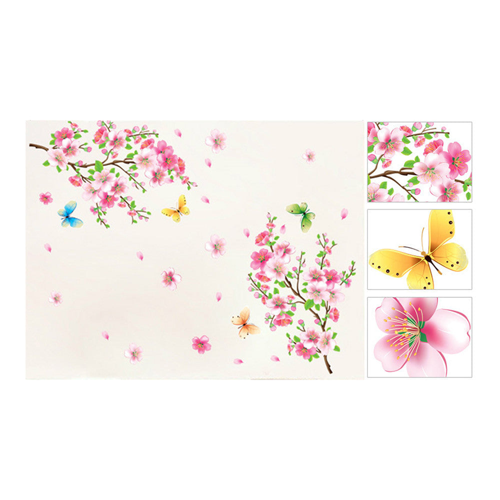 Peach Flower Wallpaper Wall Sticker Removeable - Mega Save Wholesale & Retail - 4