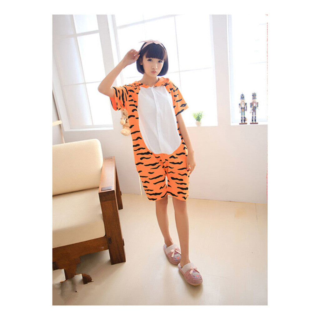 Unisex Adult Pajamas  Cosplay Costume Animal Onesie Sleepwear Suit Summer  tigger - Mega Save Wholesale & Retail