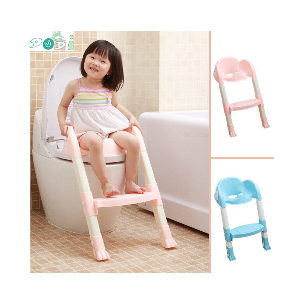 Foldable Kids Children Babies Toddlers Toilet Potty Trainer Seat With Ladder Kit   pink - Mega Save Wholesale & Retail - 5