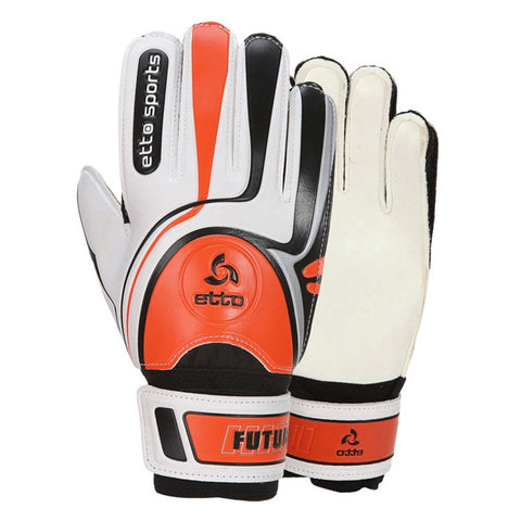 Audlt Child Latex Goalkeeper Gloves Roll Finger   orange  6 - Mega Save Wholesale & Retail - 1
