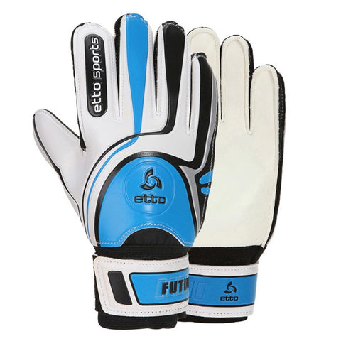Audlt Child Latex Goalkeeper Gloves Roll Finger   blue   6 - Mega Save Wholesale & Retail - 1
