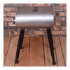 Vintage Oil Bucket Iron Stool Bar Cafes Chair   silver - Mega Save Wholesale & Retail - 1