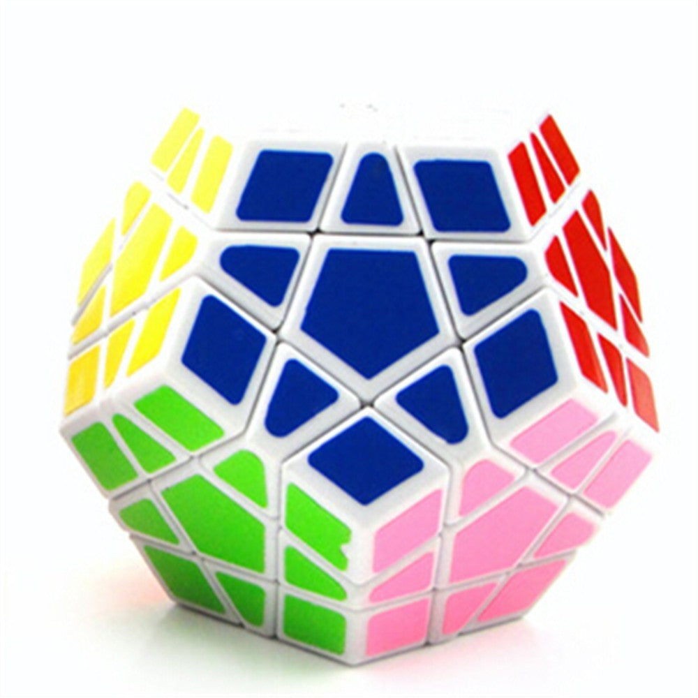 Dodecahedron magic cube 12 surfaces speed White Black twist Polygonal Toy Puzzle Rubiks Cube    black - Mega Save Wholesale & Retail - 5