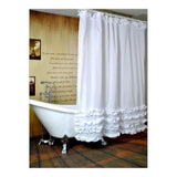 Black Tree White Fabric Bathroom Shower Curtain Polyester with 12 Hooks - Mega Save Wholesale & Retail - 8