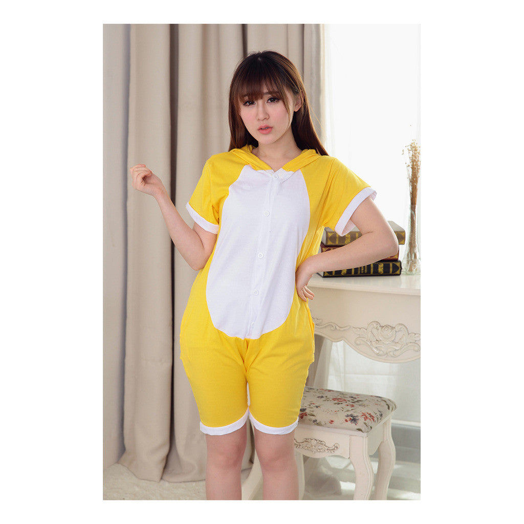 Unisex Adult Pajamas  Cosplay Costume Animal Onesie Sleepwear Suit Summer  bear - Mega Save Wholesale & Retail