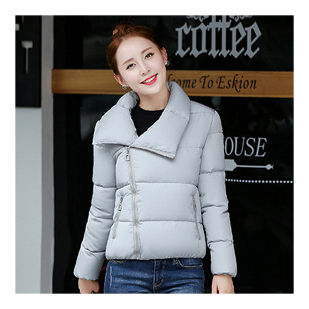 Winter Short Down Coat Woman Thick Warm Fashionable   grey   M - Mega Save Wholesale & Retail - 1
