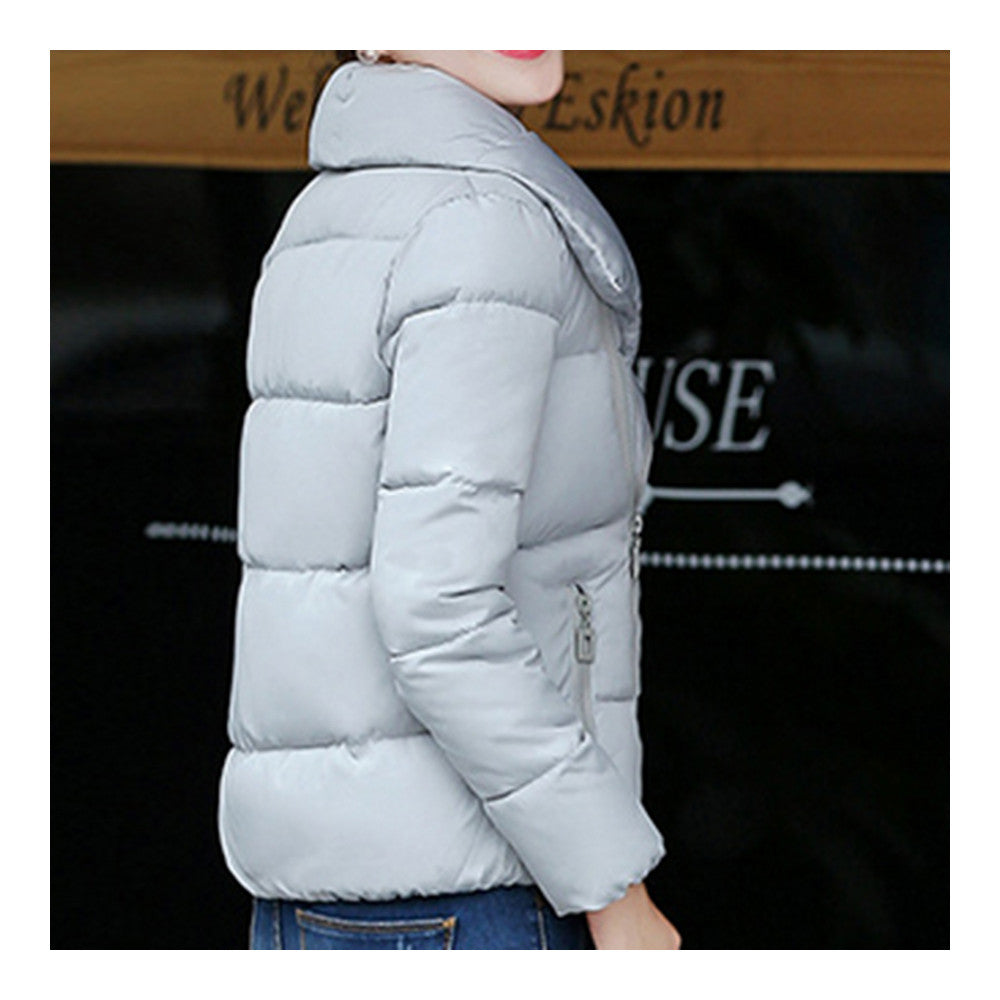 Winter Short Down Coat Woman Thick Warm Fashionable   grey   M - Mega Save Wholesale & Retail - 5