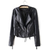 Winter Faux Leather Coat Tassel PU Slim    S - Mega Save Wholesale & Retail - 1