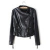 Winter Faux Leather Coat Tassel PU Slim    S - Mega Save Wholesale & Retail - 2