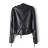 Winter Faux Leather Coat Tassel PU Slim    S - Mega Save Wholesale & Retail - 3