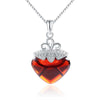 CYW Korean s925 sterling silver jewelry pendant ornaments handmade DIY Micro Pave red garnet pendant wholesale - Mega Save Wholesale & Retail