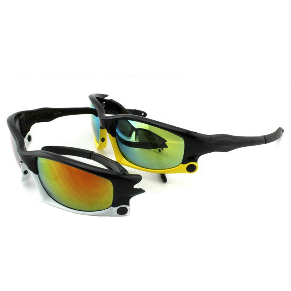073 Sunglasses Polarized Glasses Outdoor Sports Riding    upper black down yellow
