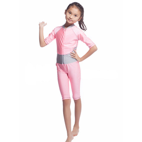 Musilim Swimwear Swimsuit Burqini hw20A Child   pink   S - Mega Save Wholesale & Retail - 1