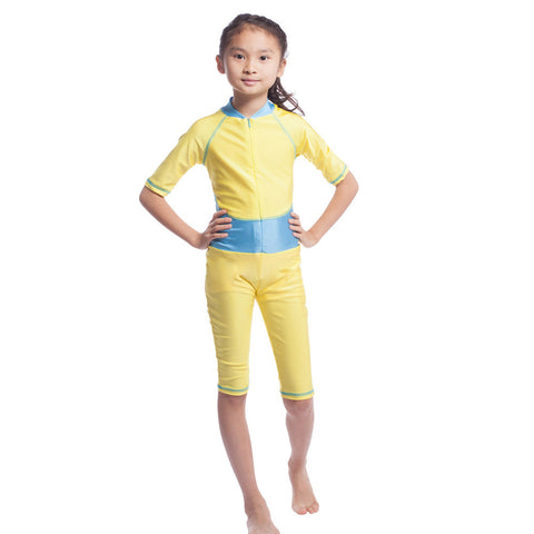 Musilim Swimwear Swimsuit Burqini hw20A Child  golden   S - Mega Save Wholesale & Retail - 1