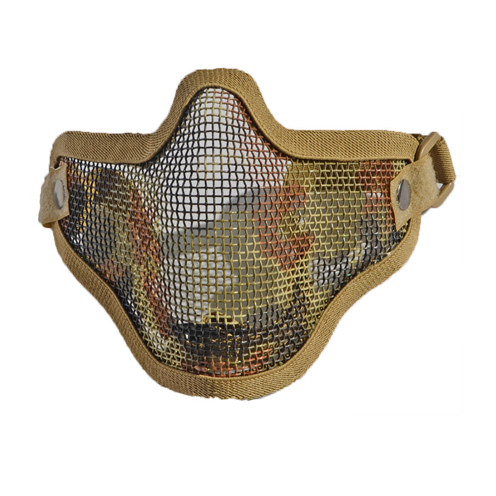 army fan outdoor protection untensil half-face wire protector field operation protection mask sports mask    Italian camouflage - Mega Save Wholesale & Retail - 1