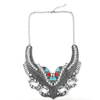 European Fasionable Big Brand Necklace Alloy Zircon Exaggerated Necklace   silver - Mega Save Wholesale & Retail