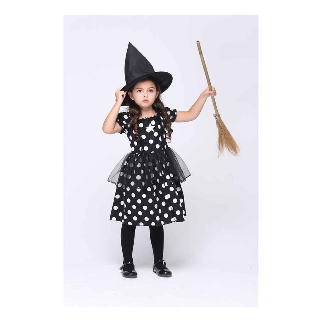 Fashionable Dress Halloween Children Garment Costume National Style Pure Cotton Kid Skirt - Mega Save Wholesale & Retail