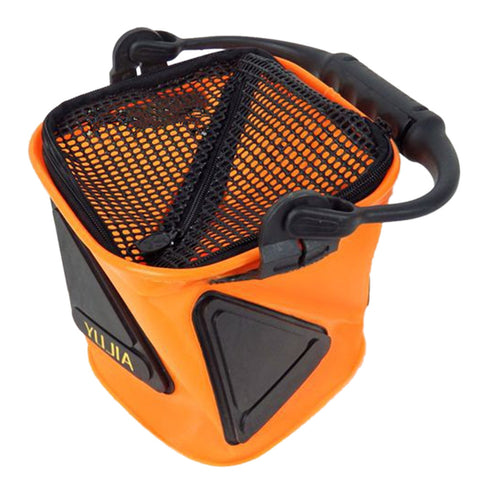 Yujia network port Tisheng EVA fishing bucket hit the road sub boat fishing folding bucket to mention buckets gear play nest barrel     18x18cm - Mega Save Wholesale & Retail - 1