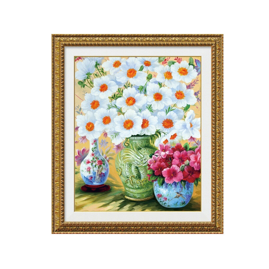 Diamond Painting Flower Splendid Living Room Cross Stitch Square Diamond Full-jewelled Diamond Stitch - Mega Save Wholesale & Retail
