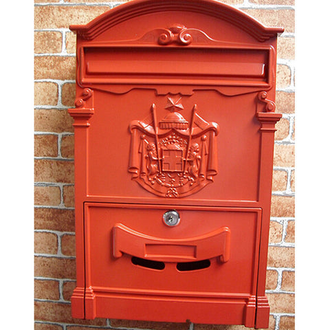 European Villa Mailbox Outdoor Antirust Vintage Mailbox green - Mega Save Wholesale & Retail - 1