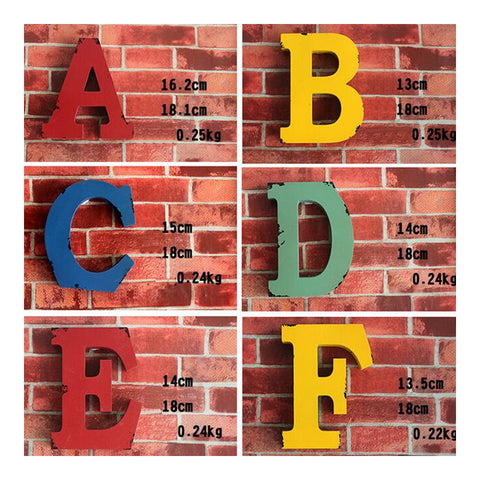 America Vintage Letters Wall Hanging Decoration   Q - Mega Save Wholesale & Retail - 1