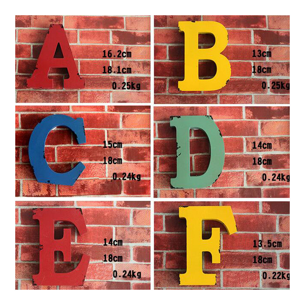 America Vintage Letters Wall Hanging Decoration   P - Mega Save Wholesale & Retail - 1
