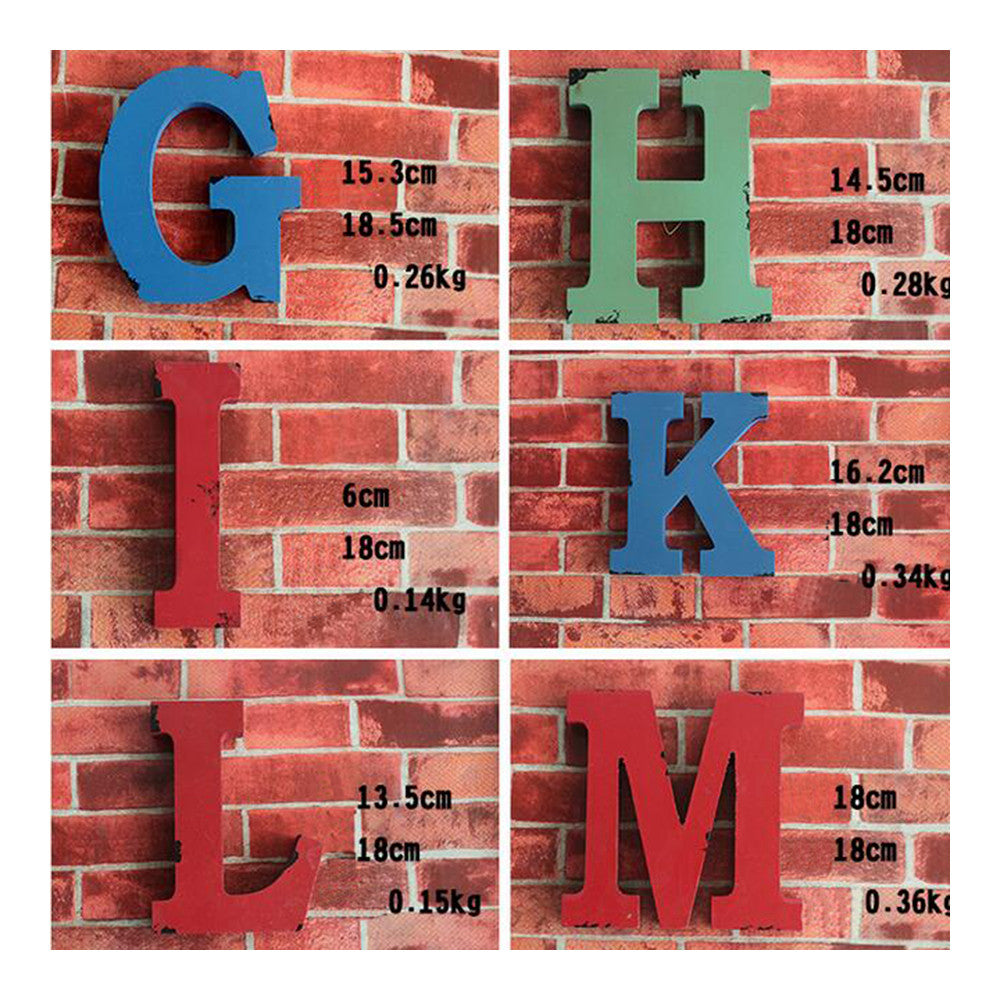 America Vintage Letters Wall Hanging Decoration   X - Mega Save Wholesale & Retail - 2
