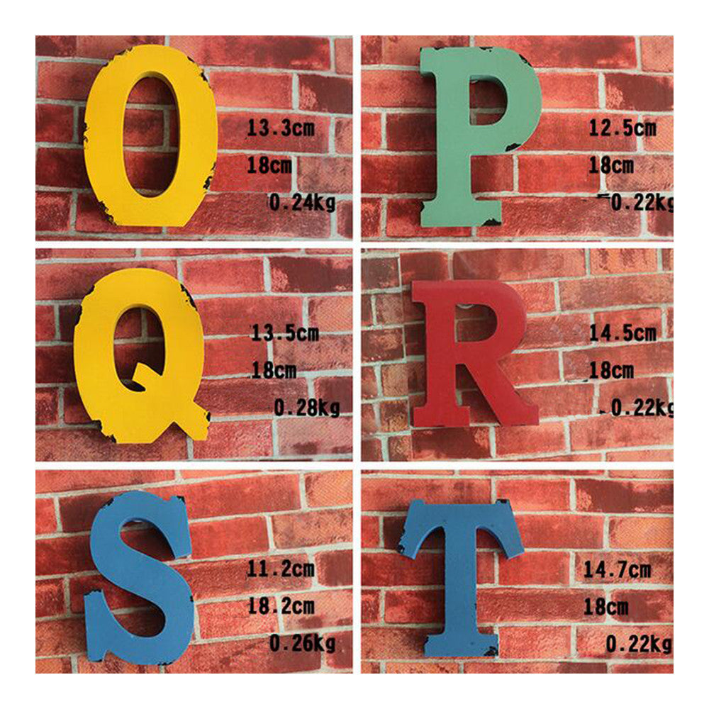 America Vintage Letters Wall Hanging Decoration   P - Mega Save Wholesale & Retail - 3