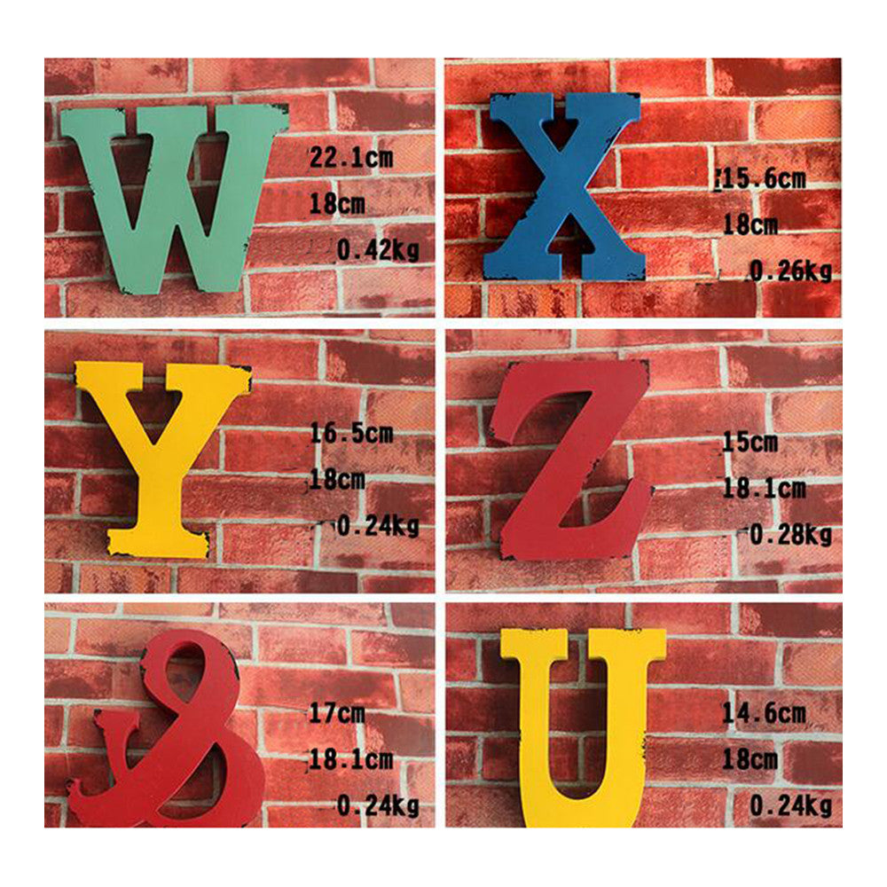 America Vintage Letters Wall Hanging Decoration   K - Mega Save Wholesale & Retail - 4