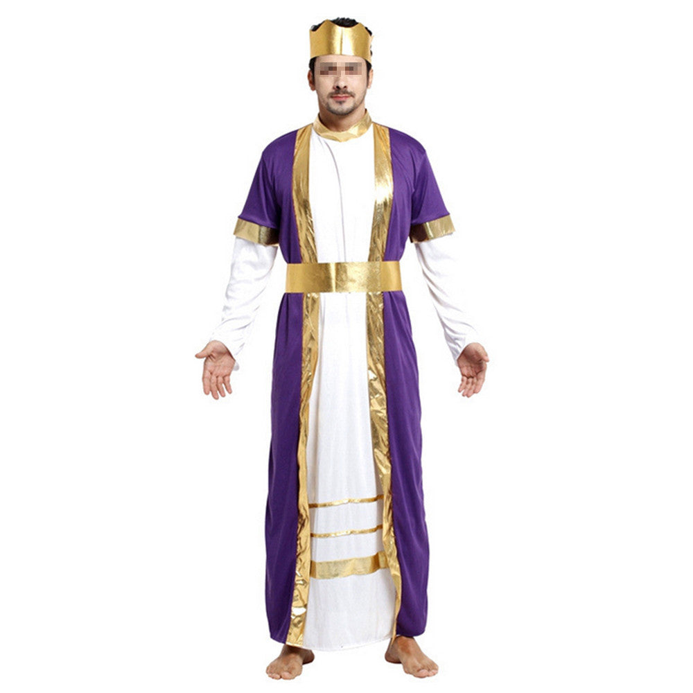 Halloween Cosplay Mask Costume Ball Costumes King Robe - Mega Save Wholesale & Retail - 1