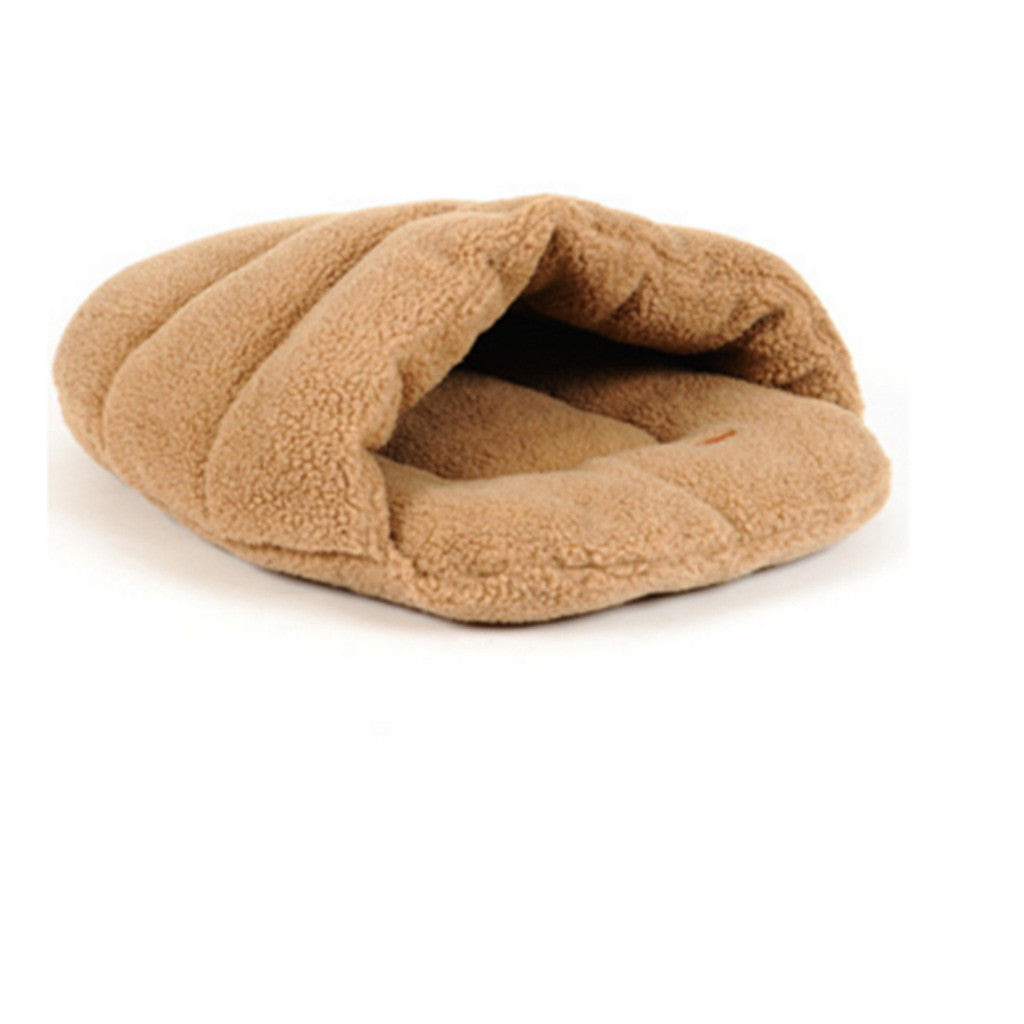 cat's house wram-keeping lamb wool slippers pet's house cat's sleeping bag utensil   brown S - Mega Save Wholesale & Retail - 1