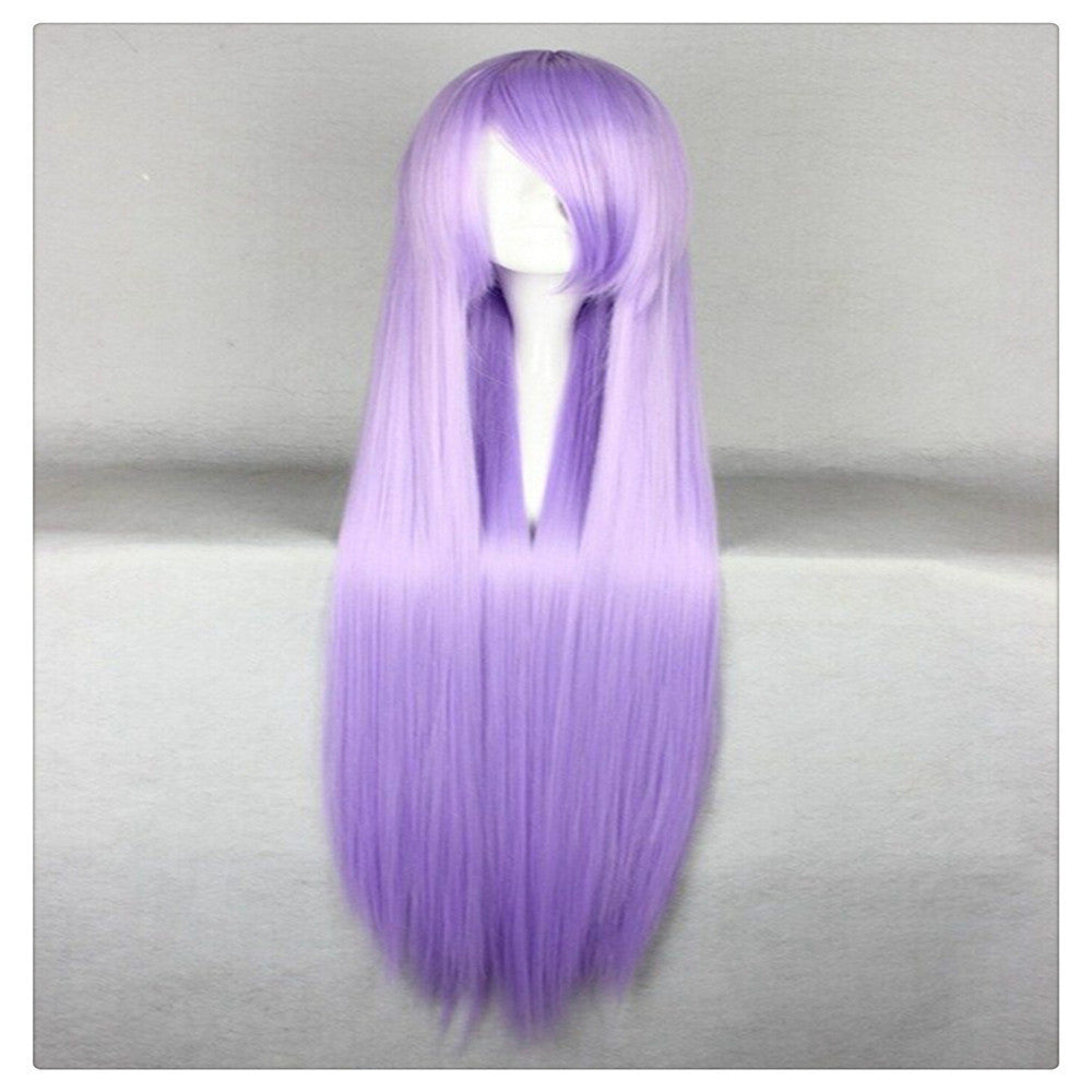 "Women Fashion 100CM/39"" Long straight Cosplay Fashion Wig heat resistant resistant Hair Full Wigs   Lavender - Mega Save Wholesale & Retail"