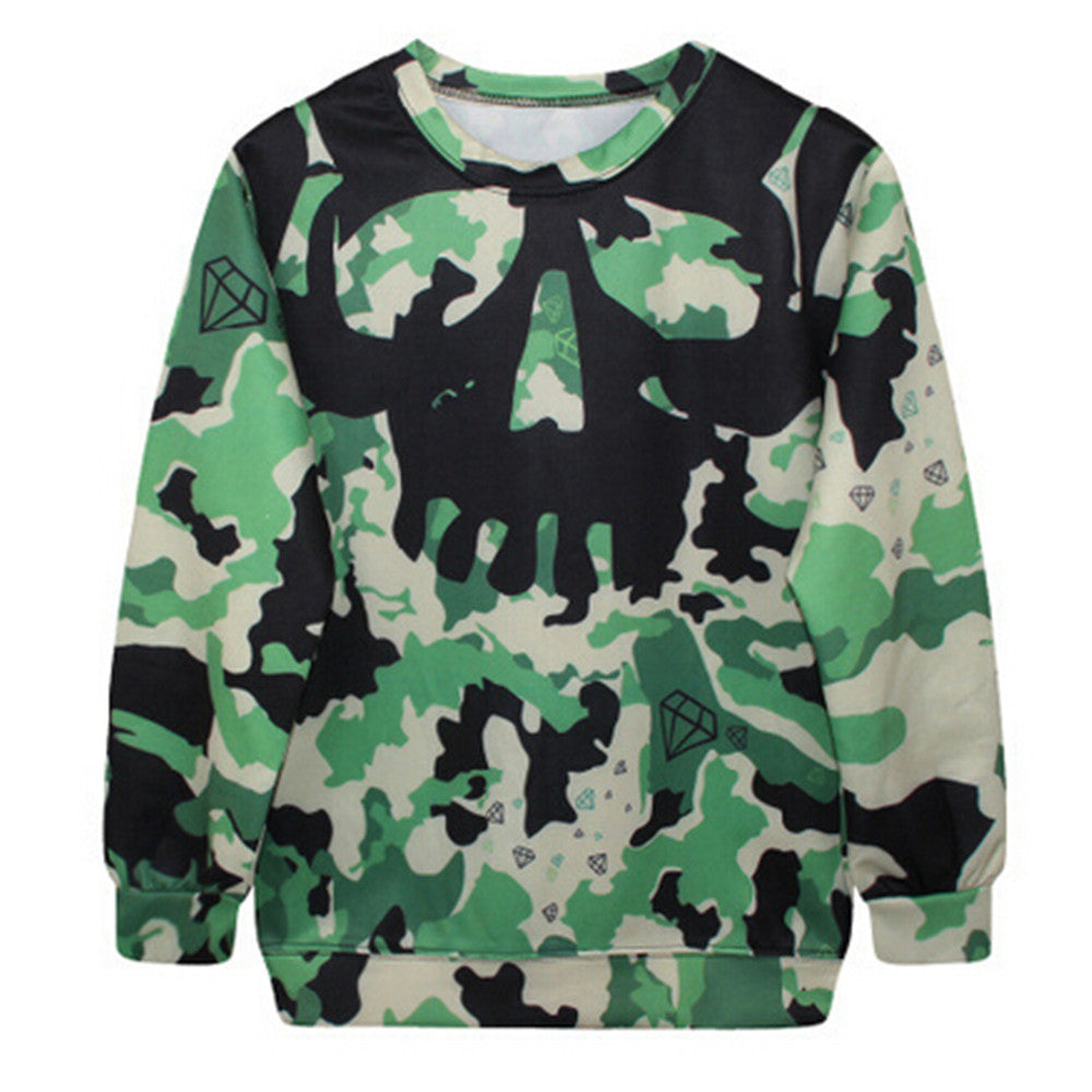 Womens Mens 3D Print Realistic Space Galaxy Animals Hoodie Sweatshirt Top Jumper Camo Skull - Mega Save Wholesale & Retail