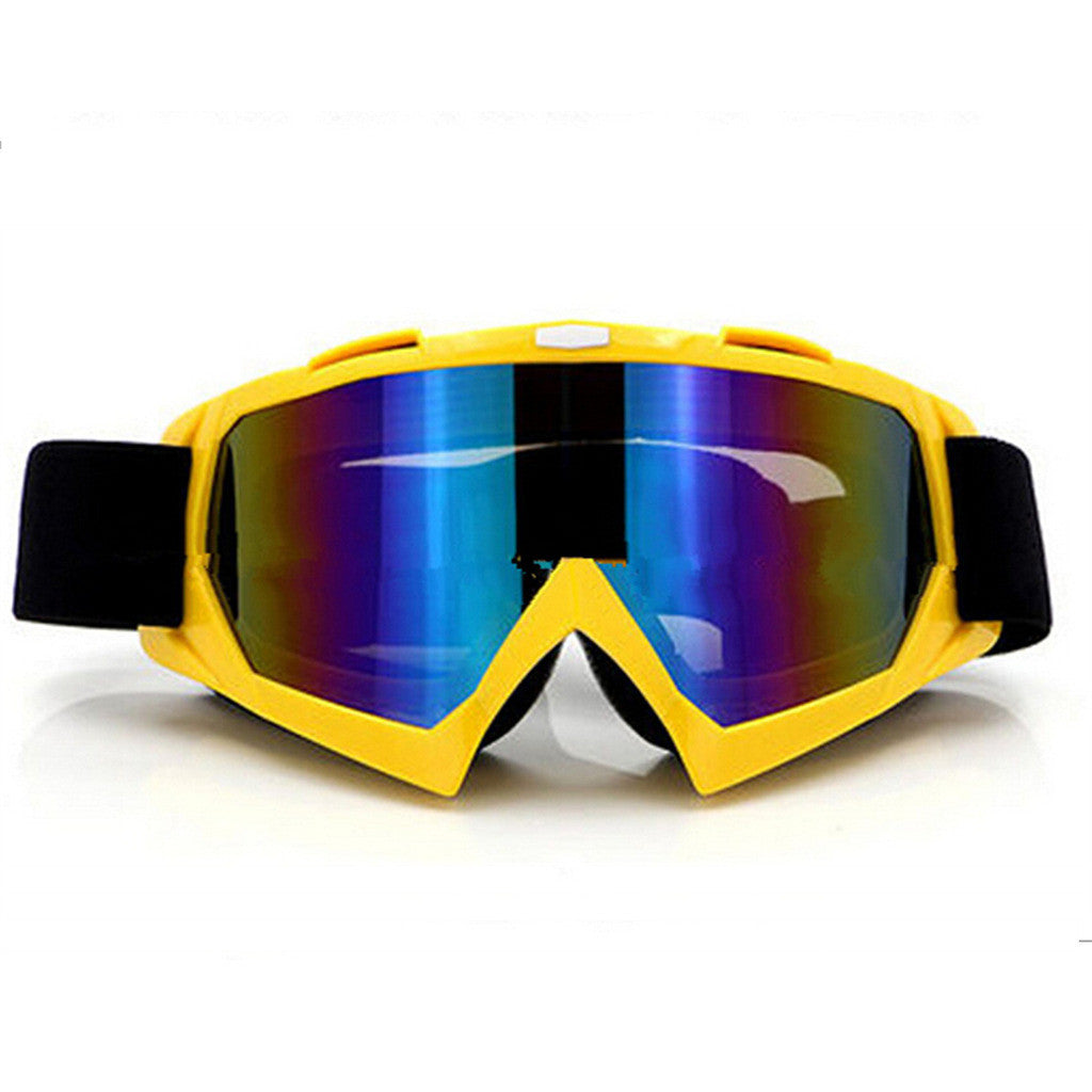 Adult Colourful double Lens Snow Ski Snowboard Goggles Motocross Anti-Fog Fashion Eye Protection Yellow Colourful - Mega Save Wholesale & Retail