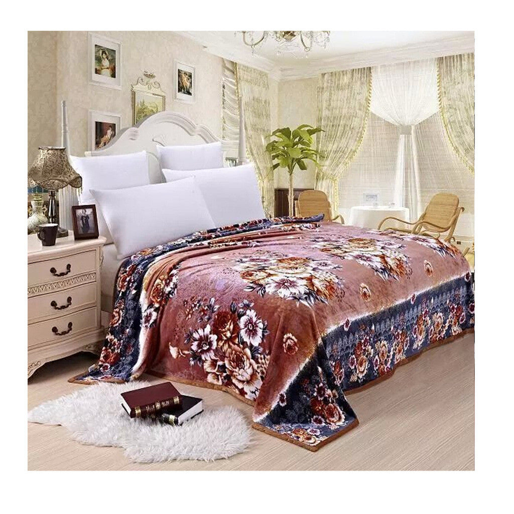 Two-side Blanket Bedding Throw Coral fleece Super Soft Warm Value  35 - Mega Save Wholesale & Retail