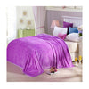 Clipped Pattern Blanket Bedding Throw Fleece Super Soft Warm Value purple - Mega Save Wholesale & Retail