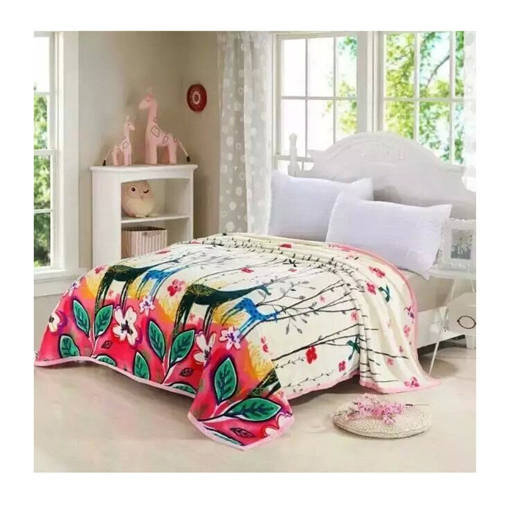 Two-side Blanket Bedding Throw Coral fleece Super Soft Warm Value  43 - Mega Save Wholesale & Retail