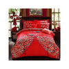 Bed Quilt Duvet Sheet Cover 4PC Set Upscale Cotton Sanded simple but elegant  009 - Mega Save Wholesale & Retail