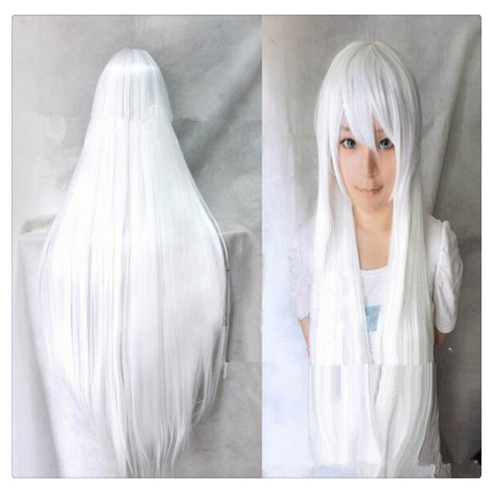"Women Fashion 100CM/39"" Long straight Cosplay Fashion Wig heat resistant resistant Hair Full Wigs  White - Mega Save Wholesale & Retail"