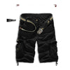 Men Shorts Casual Cargo Combat Camouflage Sports Pants     black - Mega Save Wholesale & Retail