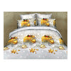 3D Flower Queen King Size Bed Quilt/Duvet Sheet Cover 4PC Set Cotton Sanded 034 - Mega Save Wholesale & Retail