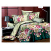 3D Flower Queen King Size Bed Quilt/Duvet Sheet Cover 4PC Set Cotton Sanded 028 - Mega Save Wholesale & Retail