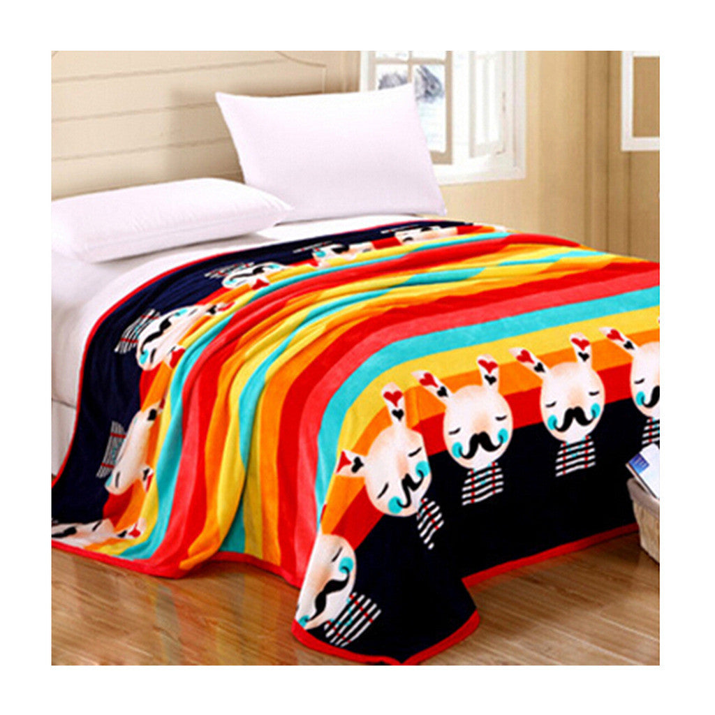 Two-side Blanket Bedding Throw Coral fleece Super Soft Warm Value 200cm 07 - Mega Save Wholesale & Retail