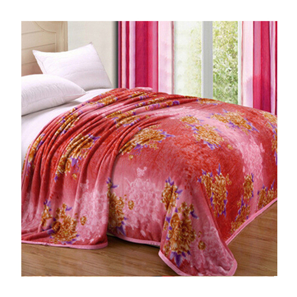 Two-side Blanket Bedding Throw Coral fleece Super Soft Warm Value 180cm 08 - Mega Save Wholesale & Retail
